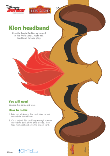 Thumbnail image for the The Lion Guard: Kion Headband- Disney Junior activity.