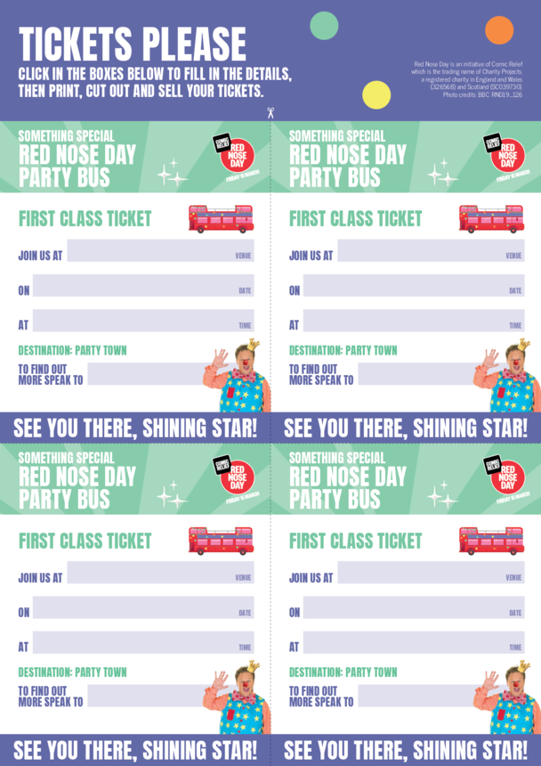 Comic Relief's Red Nose Day Party Tickets