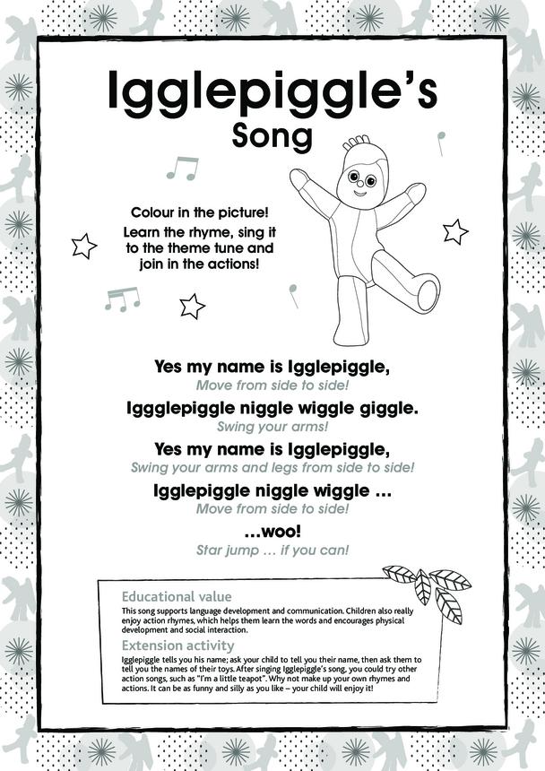 Igglepiggle's Song, Black & White