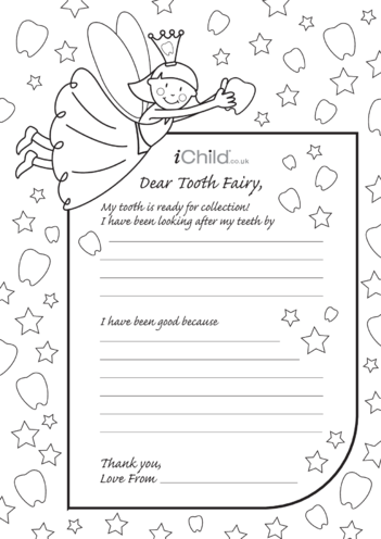 Thumbnail image for the Letter to Tooth Fairy Template activity.