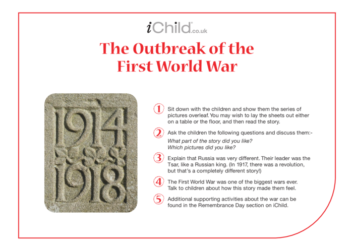 Thumbnail image for the Outbreak of the First World War: Historical Story activity.
