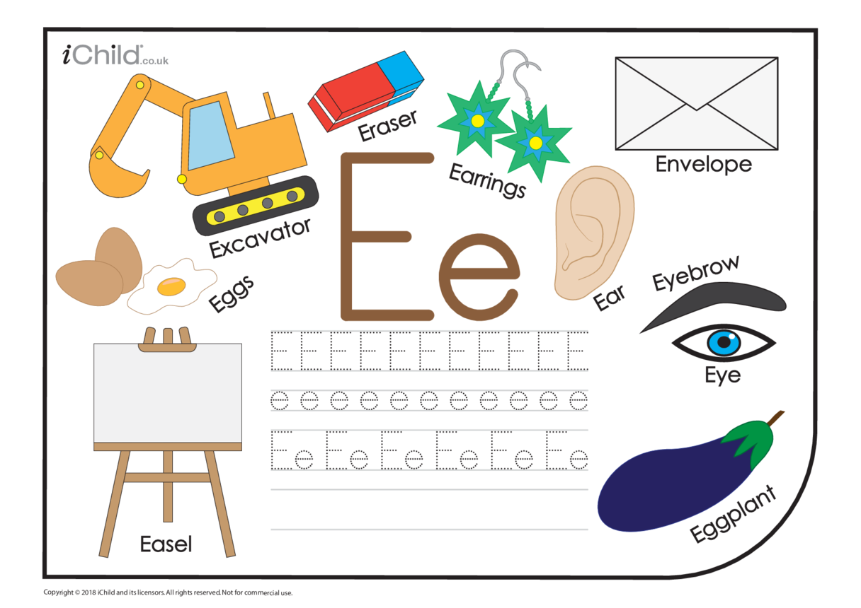 E: Writing the Letter Ee