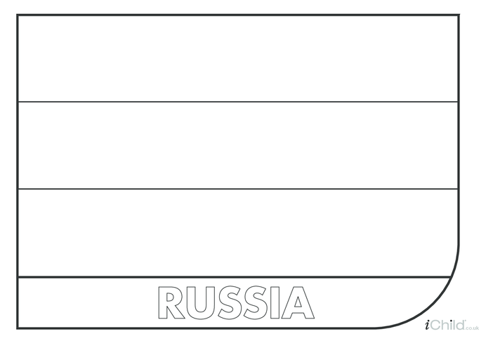 Thumbnail image for the Russian Flag Colouring in Picture activity.