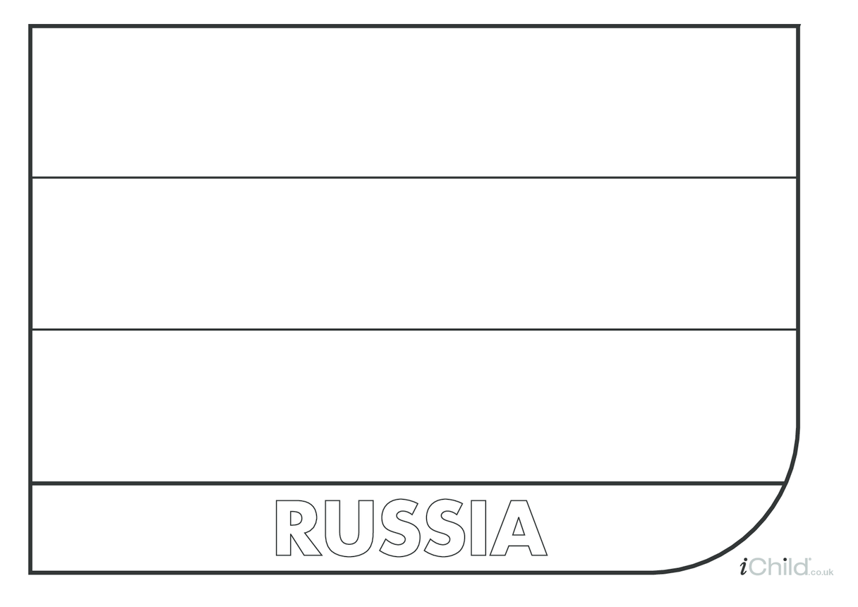 Russian Flag Colouring in Picture