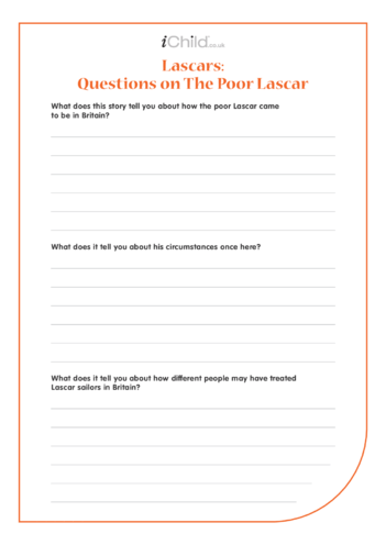 Thumbnail image for the Lascars Worksheet: Questions on