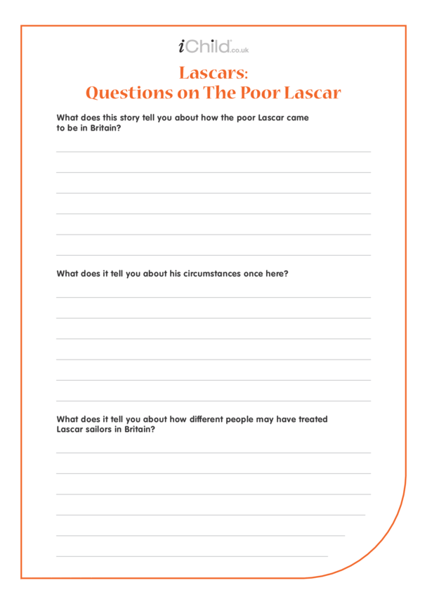 Lascars Worksheet: Questions on