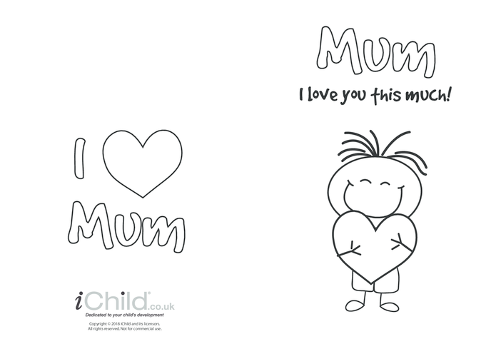 Thumbnail image for the Mother's Day Card - I Love Mum This Much (picture 2) activity.