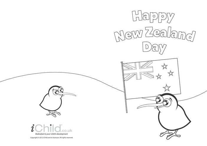 Thumbnail image for the New Zealand Day Greeting Card activity.
