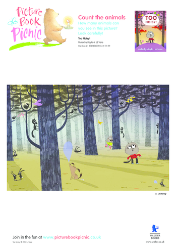 Thumbnail image for the Too Noisy: Count The Animals activity.