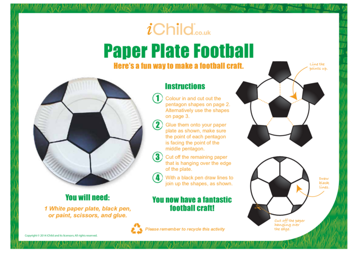 Thumbnail image for the Football Paper Plate Craft activity.
