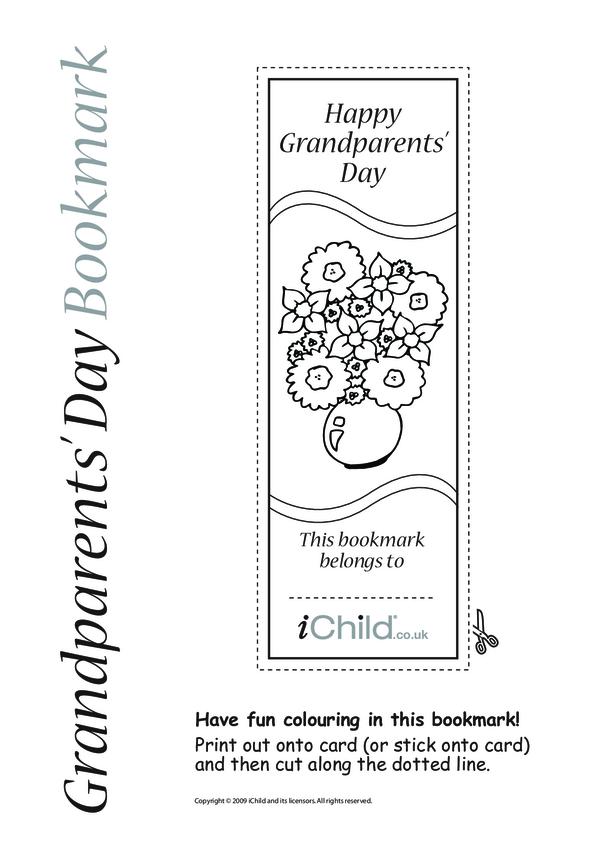 Grandparents' Day Flower Bookmark