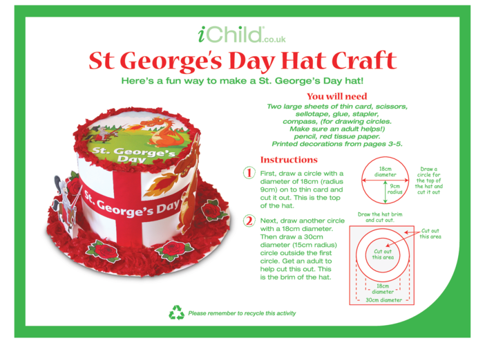 Thumbnail image for the St. George's Day Hat Craft activity.