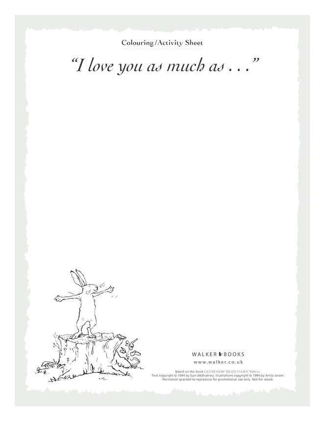 I Love You As Much As... Blank Drawing Template
