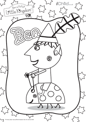 Thumbnail image for the Ben Colouring in picture: Ben & Holly's Little Kingdom activity.