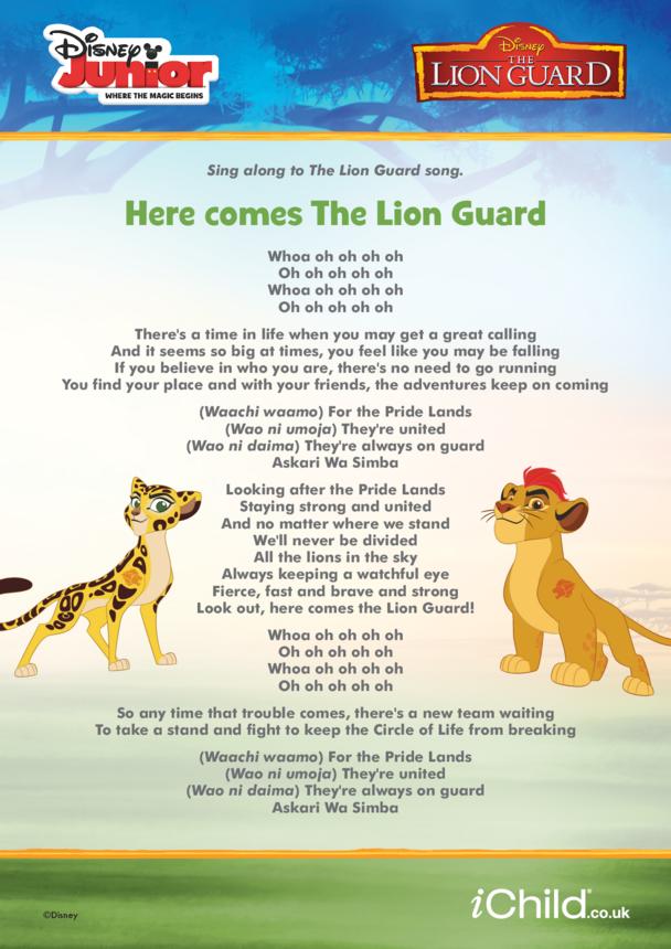 The Lion Guard Lyrics- Disney Junior