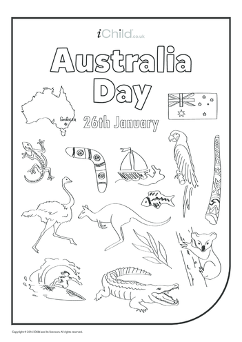 Thumbnail image for the Australia Day Colouring in Picture activity.