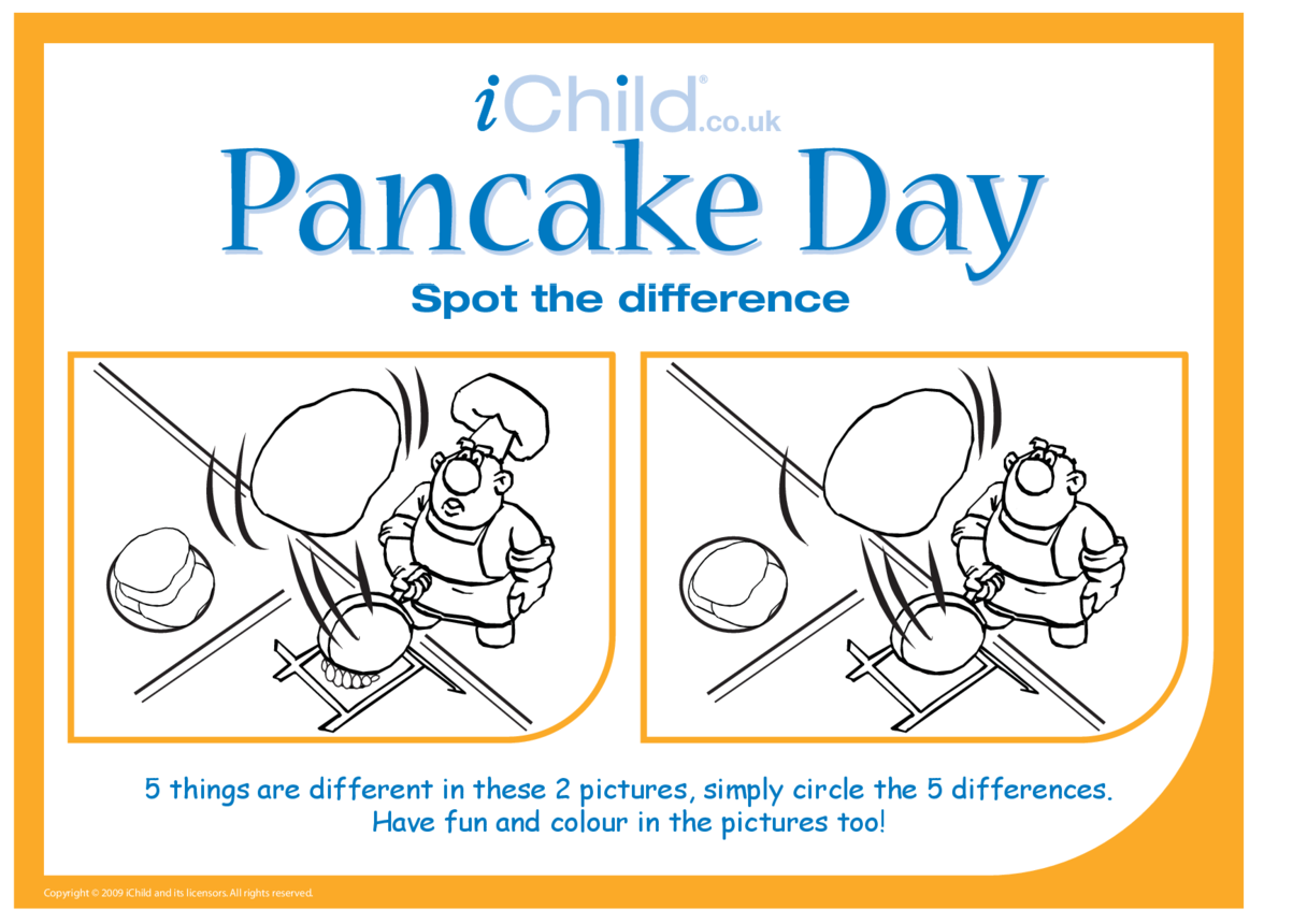 Pancake Day Spot the Difference