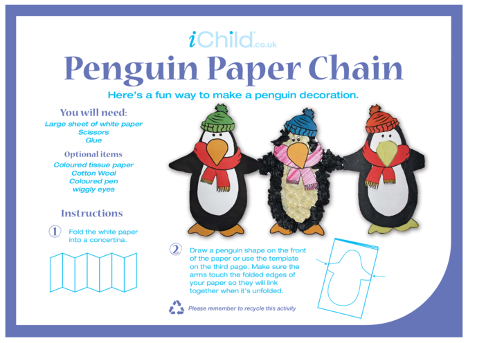Thumbnail image for the Penguin Paper Chain activity.