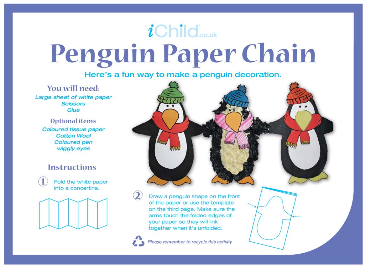 Penguin Paper Chain