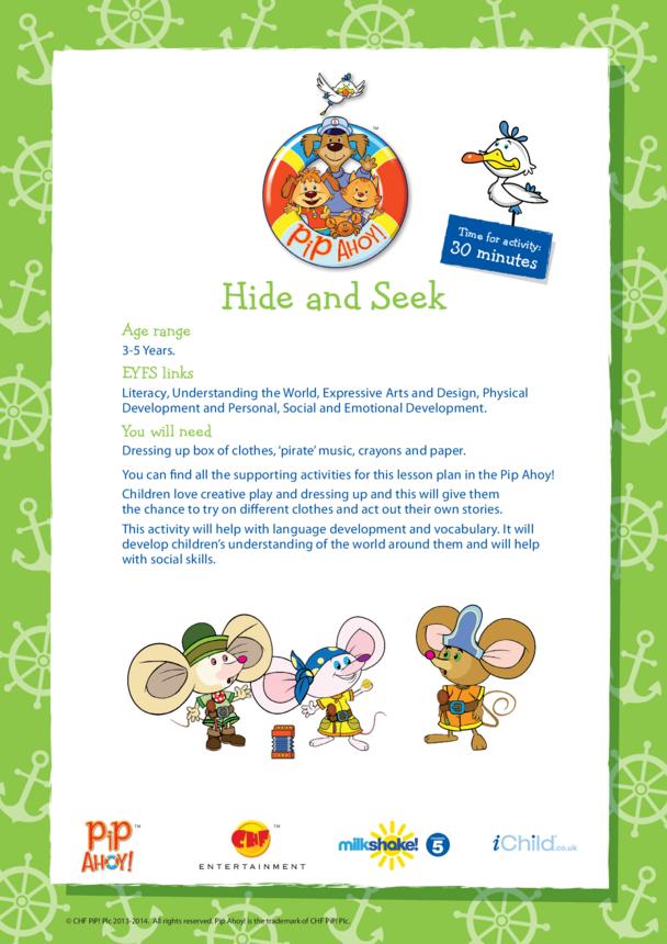 EYFS Lesson Plan: Hide & Seek (Pip Ahoy!)