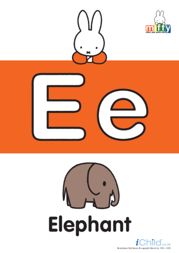 Thumbnail image for the E: Miffy's Letter Ee activity.