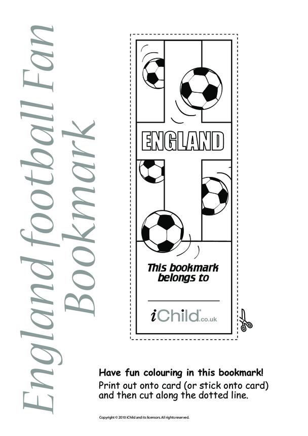 England Football Bookmark