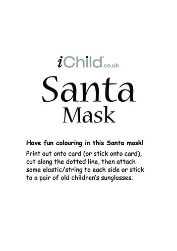 Thumbnail image for the Christmas Santa Mask activity.