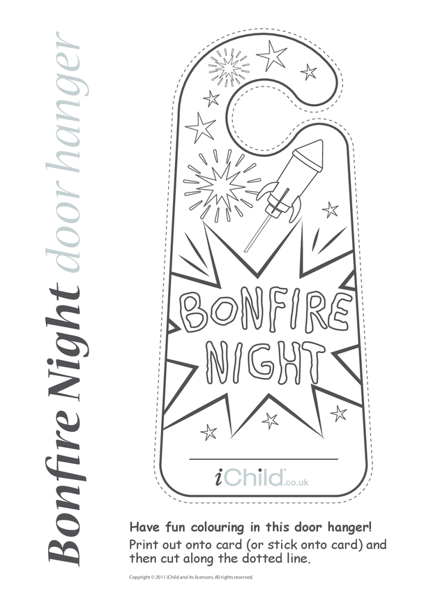 Bonfire Night Door Hanger