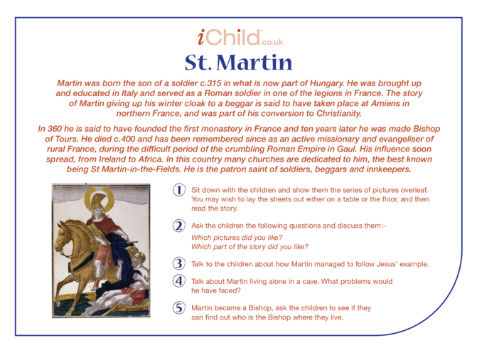 Thumbnail image for the St. Martin Religious Festival Story activity.
