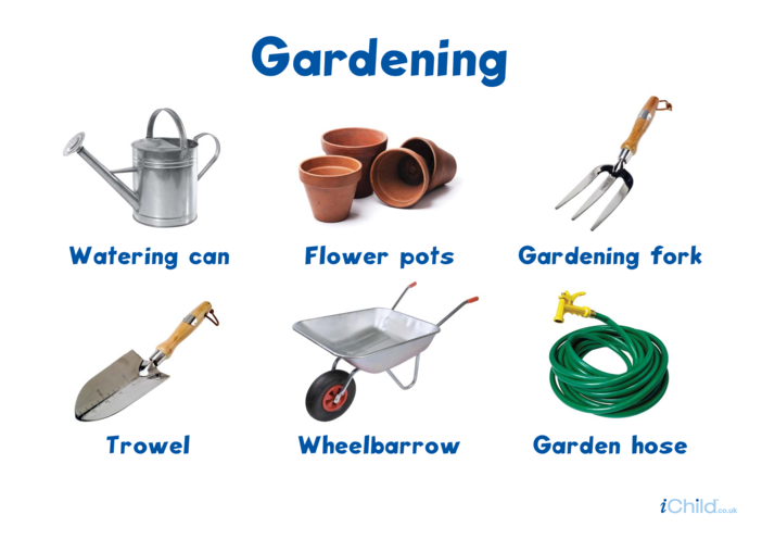 Thumbnail image for the Gardening Tools - Photo Poster activity.