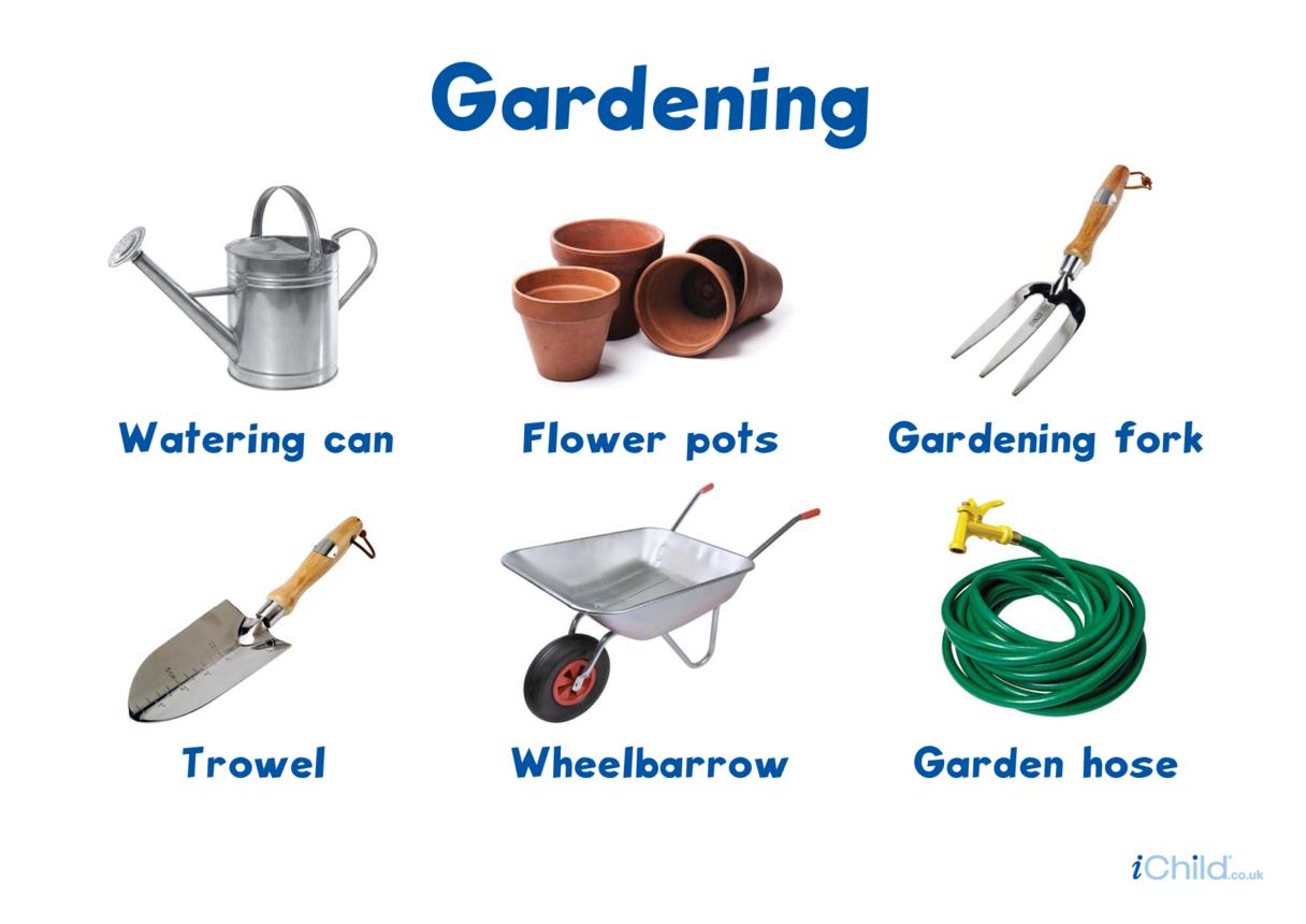 Gardening Tools - Photo Poster