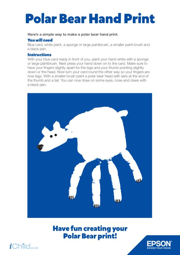 Epson Polar Bear Hand Print
