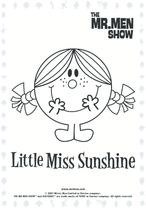 Little Miss Sunshine Colouring in picture