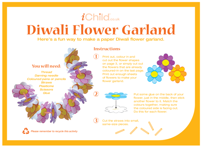 Thumbnail image for the Diwali Flower Garland activity.