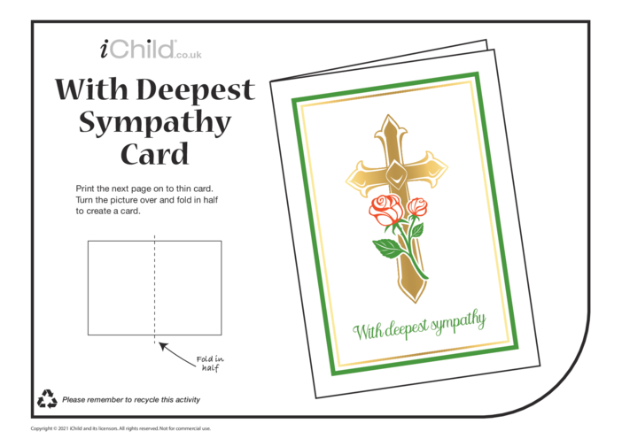 Thumbnail image for the Deepest Sympathy Card activity.