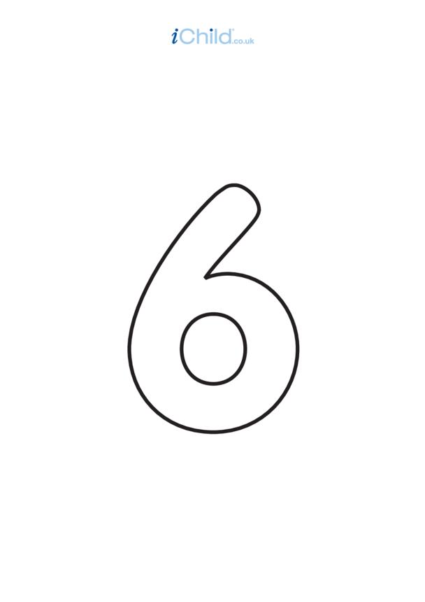 06: Poster - Number 6, Black & White