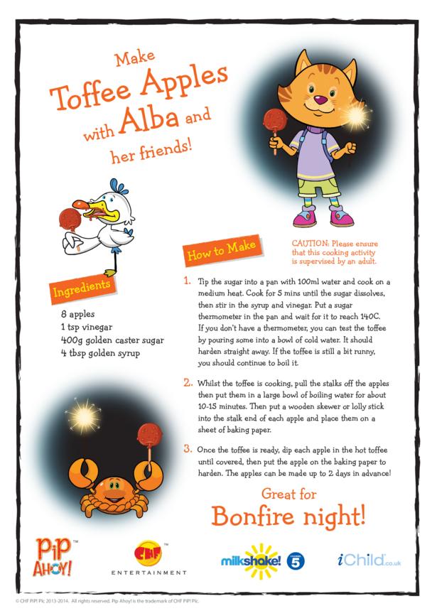 Bonfire Night Toffee Apple Recipe (Pip Ahoy!)
