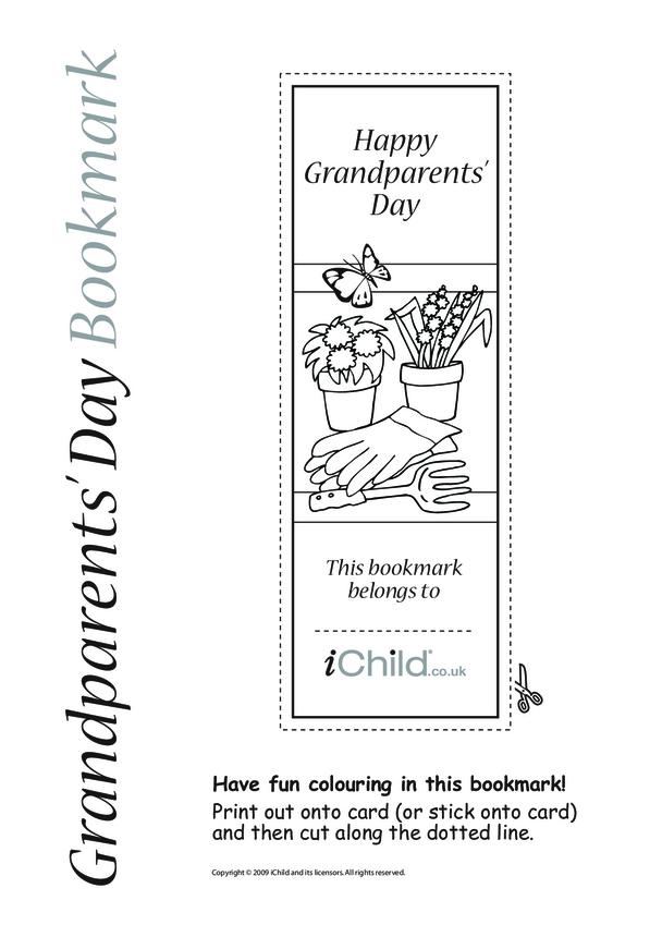 Grandparents' Day Gardening Bookmark