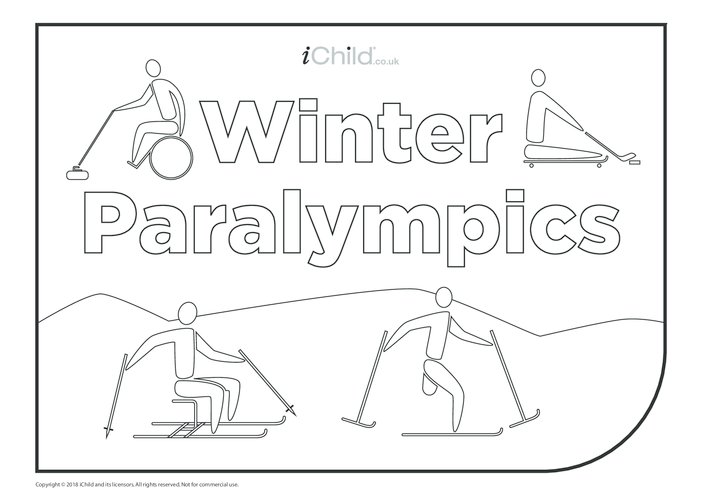 Thumbnail image for the Winter Paralympics Colouring in Poster activity.