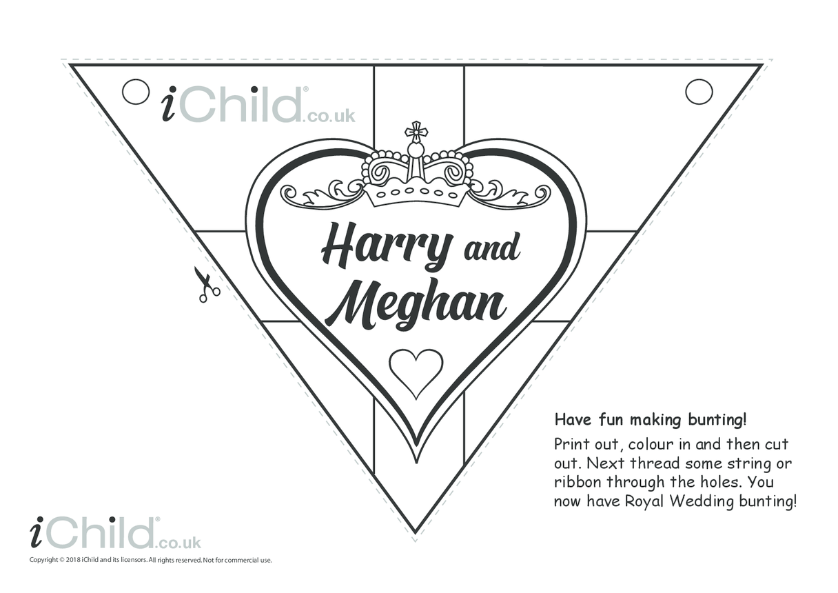Royal Wedding Bunting Craft: Harry & Meghan