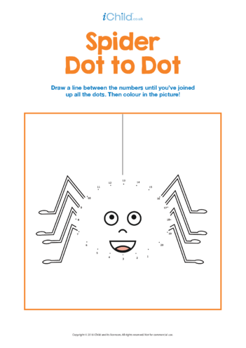 Thumbnail image for the Spider Dot to Dot activity.