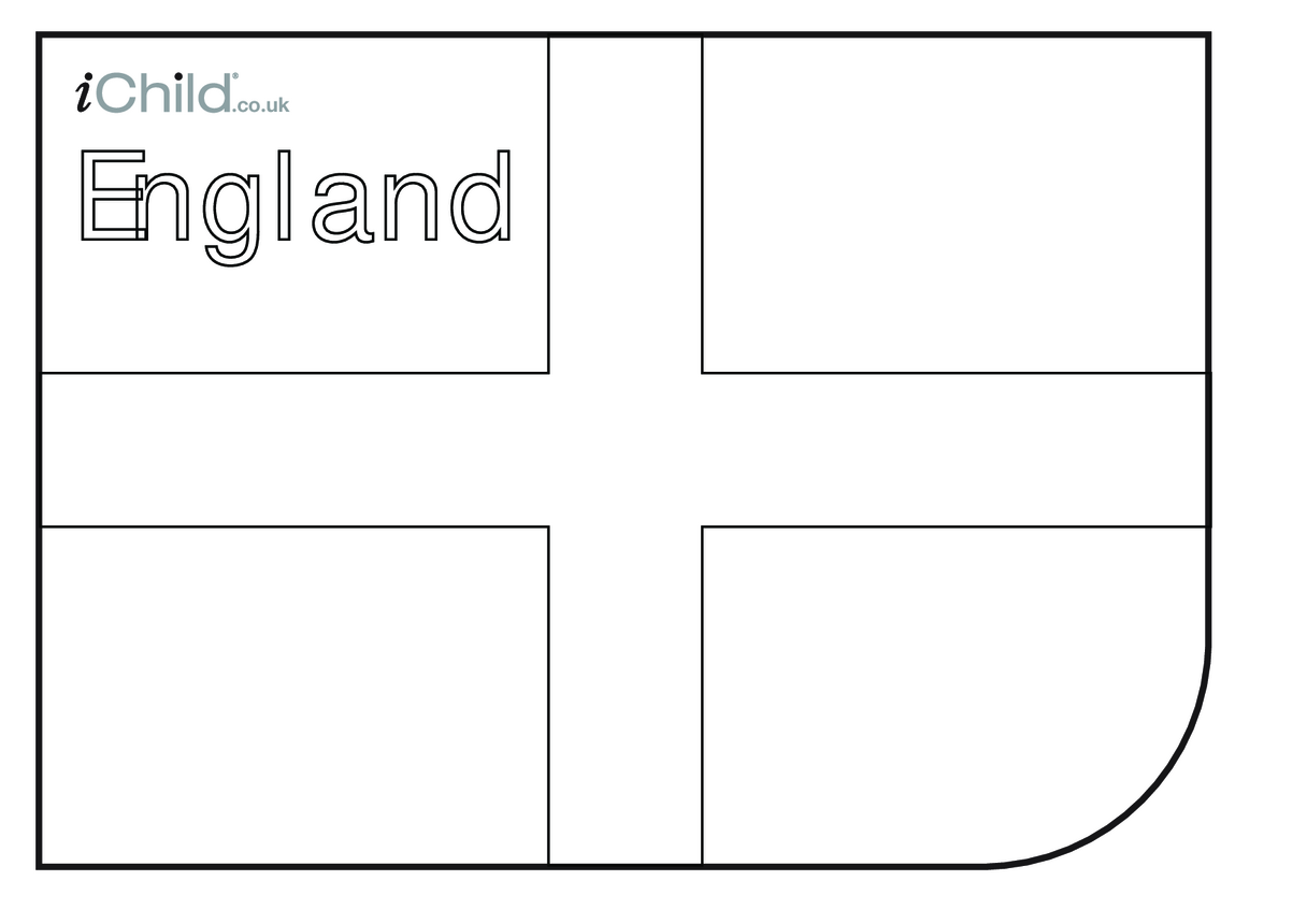 England Flag Colouring in picture