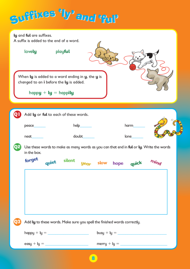 Collins Easy Learning KS2 English, Spelling ending 'ly' and 'ful'
