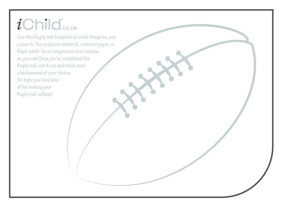 Rugby Ball Collage Craft