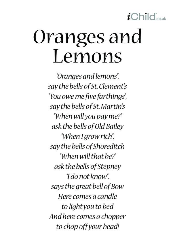 Oranges and Lemons Lyrics