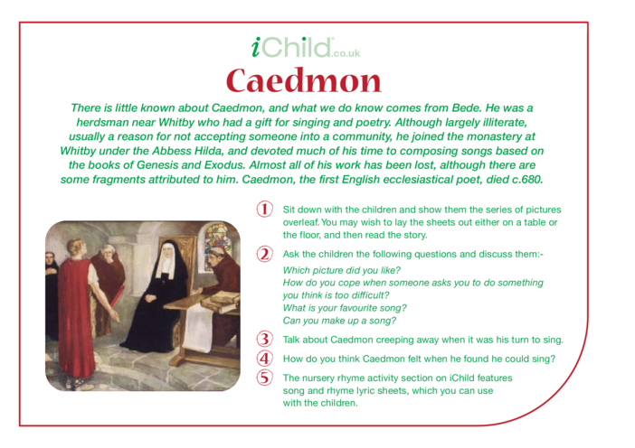 Thumbnail image for the Caedmon Religious Festival Story activity.
