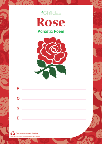 Thumbnail image for the Rose Acrostic Poem activity.