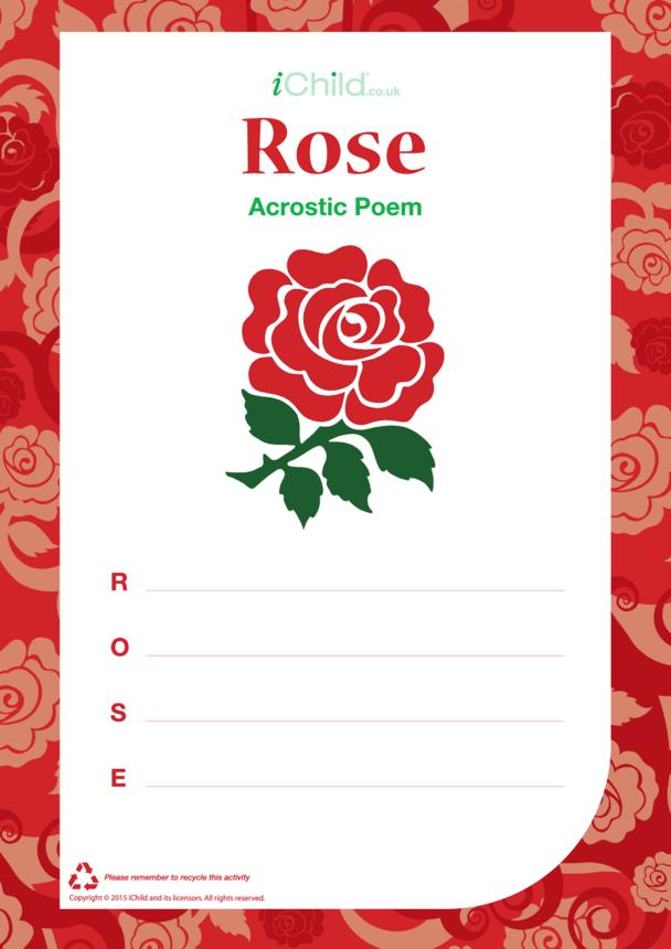 Rose Acrostic Poem