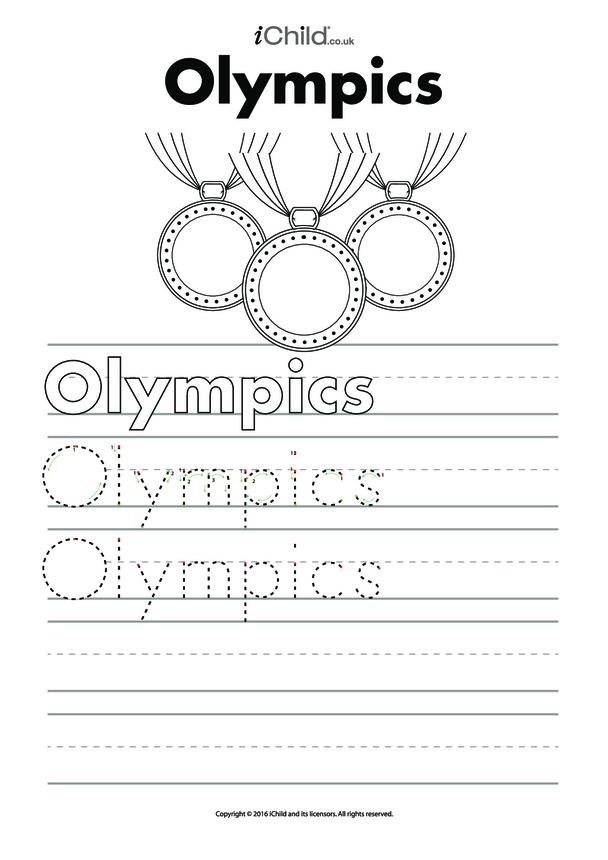 Olympics Handwriting Practice Sheet
