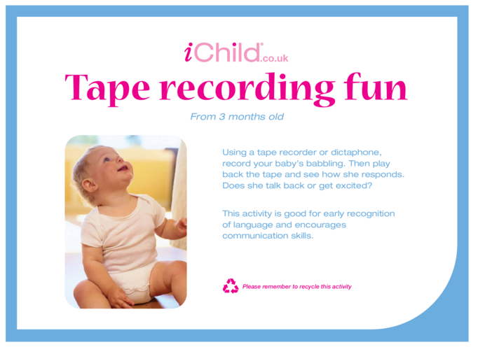 Thumbnail image for the Tape Recording Fun activity.